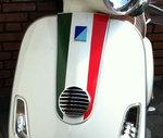 vespa claxon sticker italie voorkap stickerset accessoires