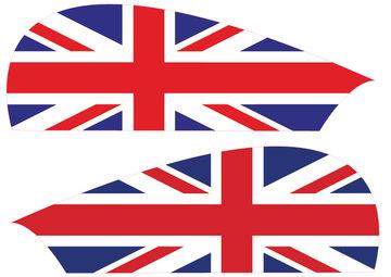 Wangsticker UK England volledig