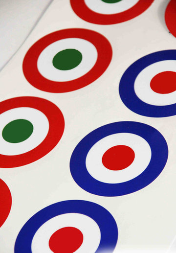 Mini target blauw/rood