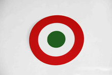 vespa stickerset italie mod target tricolore