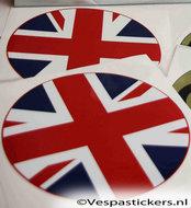 stickerset uk vespa england schade krassen custom accessoires